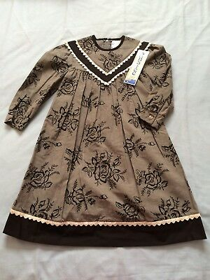 Vintage Anstee Girls Dress Size 4 BNWT Flowers Roses Special Occasion