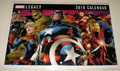 MARVEL LEGACY 2018 Promo Comic-Sized CALENDAR  NM Pin-Up style pages / Unstamped