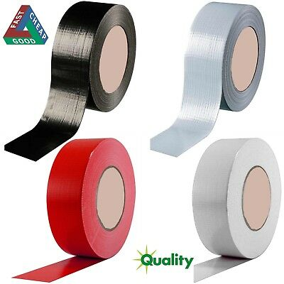 Duck Duct Gaffa Gaffer Waterproof Cloth Tape Silver RED WHITE Black 48mm 50m