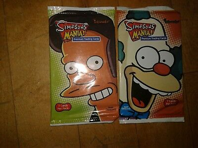 The Simpsons Mania Premium Trading Cards Inkworks 2 Packs of 7