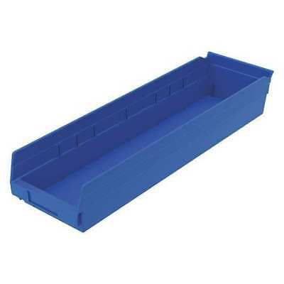 "Blue Shelf Bin, 23-5/8""L x 6-5/8""W x 4""H AKRO-MILS 30164BLUE"
