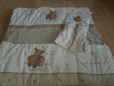 baby cot bedding set never used