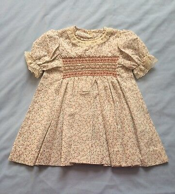 Vintage Handmade Baby Girls Summer Dress Size 00 Cream
