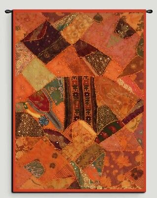 "60"" Classic Indian Vintage Sari Patchwork Wall Decor Tapestry Throw Hanging"