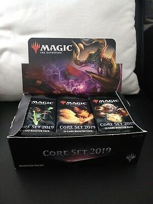 Magic the Gathering:MTG 1x Core Set 2019 Booster Box Display englisch, geöffnet