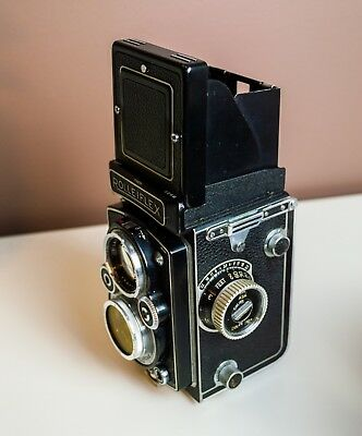 Rolleiflex 3.5 vintage TLR film camera + EXTRA LENSES + ACCESSORIES + FILTERS