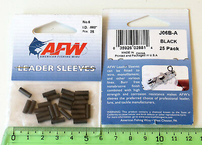 Lot x2 paquets Sleeve pêche AFW N° 6  American Fishing Wire leader Sleeve 2 Pack