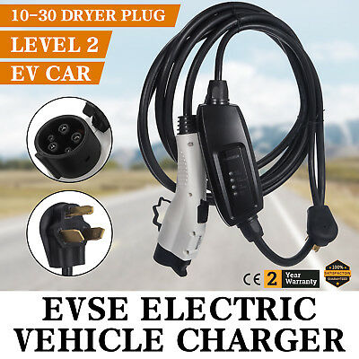 Electric Car Charger 10-30 Plug Level 2 Charger Universal Control Box Vehicle