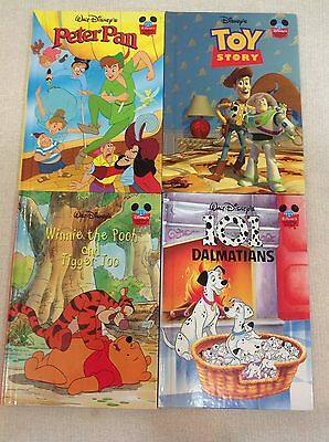 Bulk Buy Collection Of 4 HardCover Disney Pixar, Walt Disney Books
