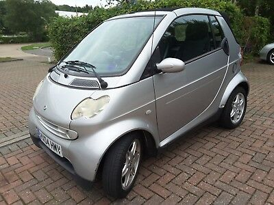 2004  04 Smart Pulse Convertible Auto,silver,black Leatger,h/seats 52000 Miles,n