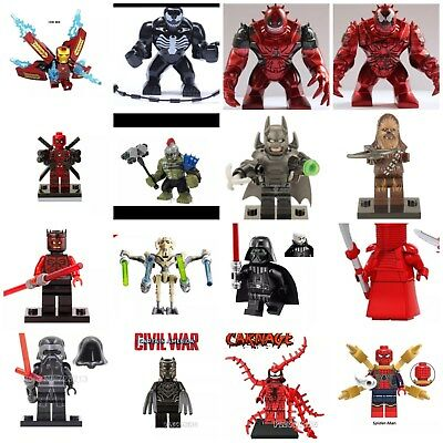 LEGO And Custom Mini figure Marvel DC Avengers Venom Deadpool Star Wars Darth