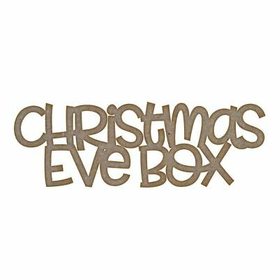 Christmas Eve Box (Design 2) MDF Craft Blank in Various Sizes