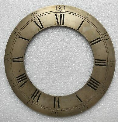 """Antique Longcase/grandfather Clock Chapter Ring For A 12"""" Dial"""