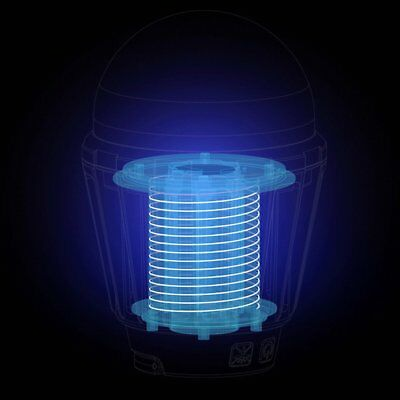 Solar Mosquito Lamp Rechargeable Outdoor Fly Bug Insect Zapper Killer Lamp LP