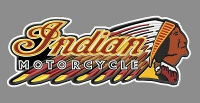 """Indian Motorcycle Embroidered Back Patch ~11-1/2"""" x 4-1/2"""" Scout Chief V2 Biker"""