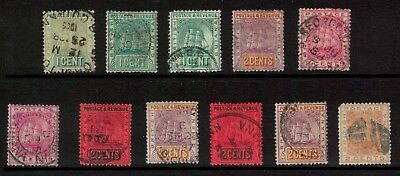 British Guiana stamps - 1880s/90s - good lot better noted - used cancels/shades