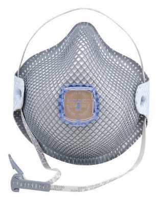 MOLDEX 2741R95 R95 Disposable Respirator w/ Valve, S, Gray, PK10
