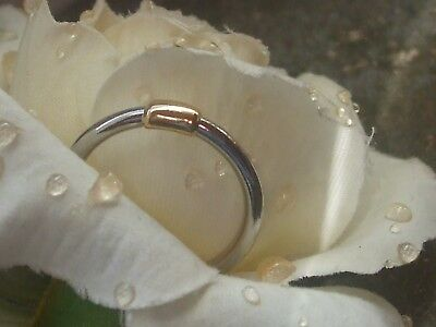 Palladium Ring in 950 und 750 Gold ca 18 mm ca 3 g