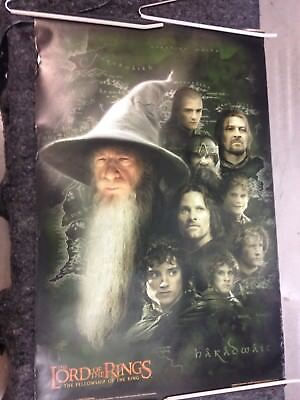 Lord of the Rings Fellowship poster 2001 Gandalf and Friends