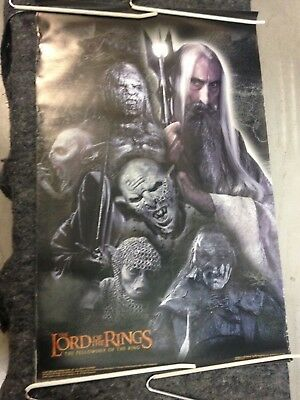 Lord of the Rings Fellowship poster 2001 Saruman and Orcs