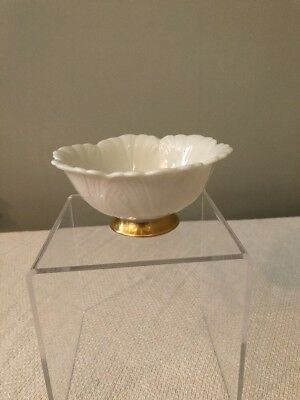 Lenox Made In The USA 24k Gold Trim Scallop Small Bowl