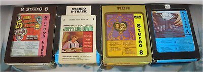 1970's 8-Track Cartridges, Porter Wagoner Dolly Parton, Jerry Lee Lewis, Tested!
