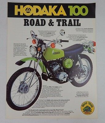RARE: Hodaka Road Toad 100 RT / 02 Trail Motorcycle Brochure Original Paper VTG