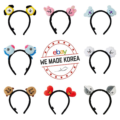BTS BT21 Plush Hairband Headband Official K-Pop Bangtan Boys 8 Kinds Goods