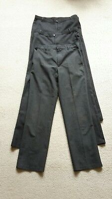 3x Pairs Grey Charcoal M&s And FF School trousers 11-12