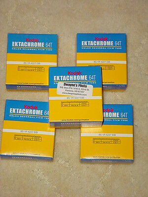 Ektachrome Lives & Processed all over the World, 5 x 64T Super 8 Movie Film