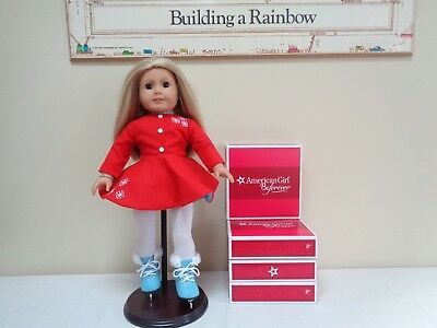 NEW RETIRED American Girl Maryellen Ice Skating Outfit Dress Tights Skates Box