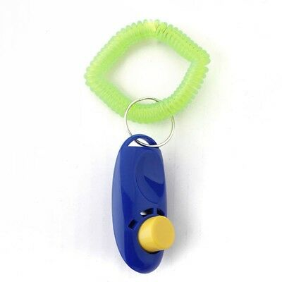 2Pcs Pet Dog Cat Button Click Clicker Trainer Training Obedience Aid Wrist S SHJ