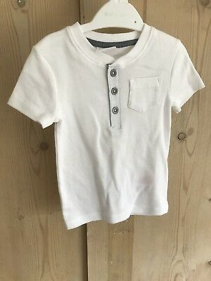 White Short Sleeved T-shirt With Pocket 9-12 Months