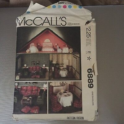McCalls 6889 Dollhouse and dollhouse pattern
