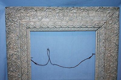 Vintage or Antique Ornate Wood & Gesso Picture Art Mirror Frame