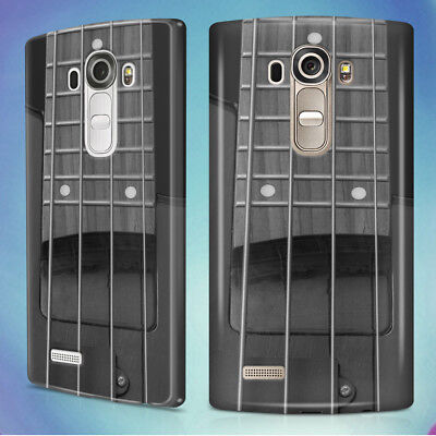 Gray Electric Bass Guitar Hard Back Case Cover For Lg Phones