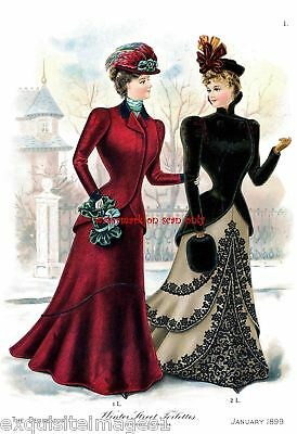 1899 Fashions~Delineator~Toilettes NEW Lg Note Cards