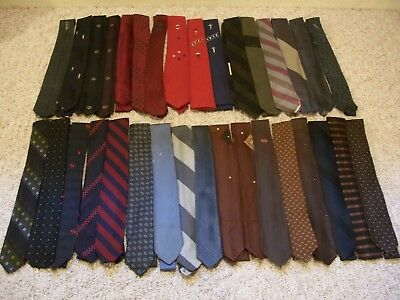 Vintage Lot of Men's Ties From 1950's and 60's Silk and Dacron