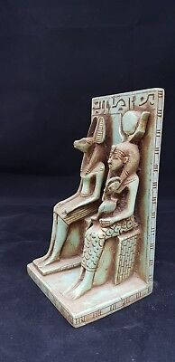 ANCIENT EGYPT Antique Statue of ANUBIS With ISIS Nursing HORUS GODDESS 300 BC