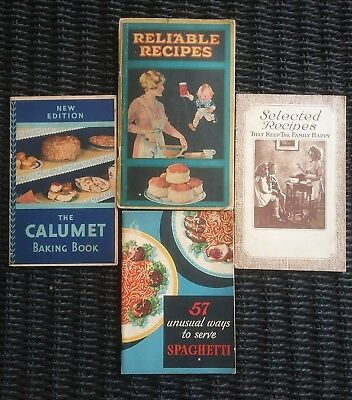 vintage recipe advertising booklets lot of 4 1920 s 1930 s