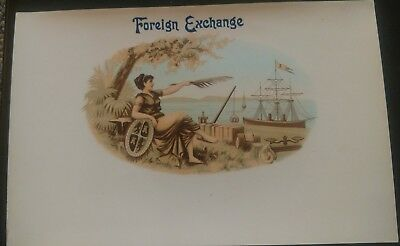 FOREIGN EXCHANGE Inner CIGAR BOX LABEL