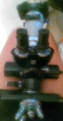 Carl Zeiss MICROSCOPE HEAD ASSEMBLY with M35 camera and other parts listed below