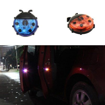 Car Door Warning Light Beetles Shape LED Flashing Warning Lights for Night