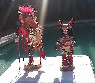 Two Native American Indian Figurines