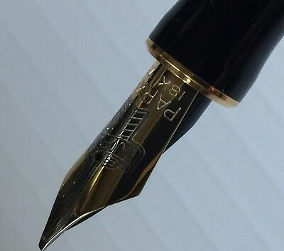 Vtg.Parker Duofold 18k Gold Medium Italic Nib #94 Only For Parts As Is Untested