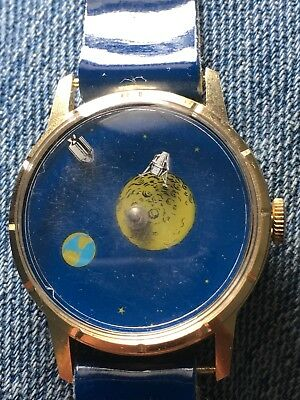 Vintage 1970 R. GSELL & Co. Space Watch Wind Up Running