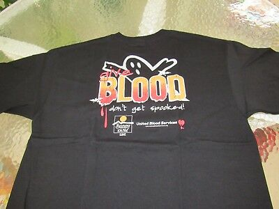 "Suncoast collectable Black United Blood Donation  ""T"" Shirt Size EL"