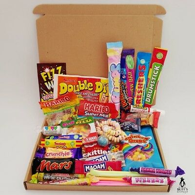 LARGE Retro Sweet Hamper Selection Gift Box Present Birthday Treat Mixed Candy