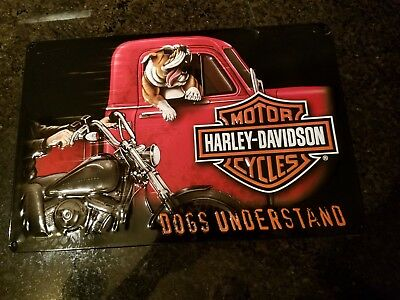 HARLEY DAVIDSON MOTORCYCLES metal ADVERTISING SIGN by Andy Rooney