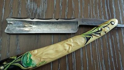 Vintage Hunter Razor #640 Made in Germany Naked Woman Handle !!!
